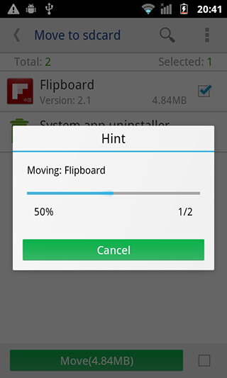 Move App to SD card скриншот 2