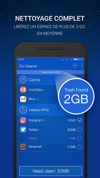 DU Cleaner: Memory Cleaner and Clean Phone Cache скриншот 1