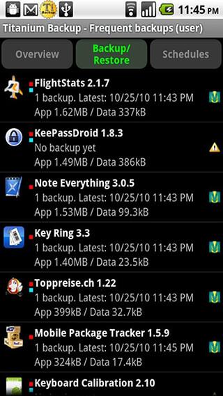 Titanium Backup: Root скриншот 1