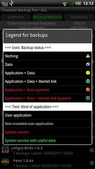 Titanium Backup: Root скриншот 3