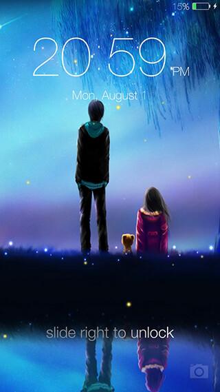 Fireflies Lockscreen скриншот 2