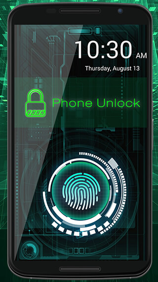 Fingerprint Lock Screen Prank скриншот 2
