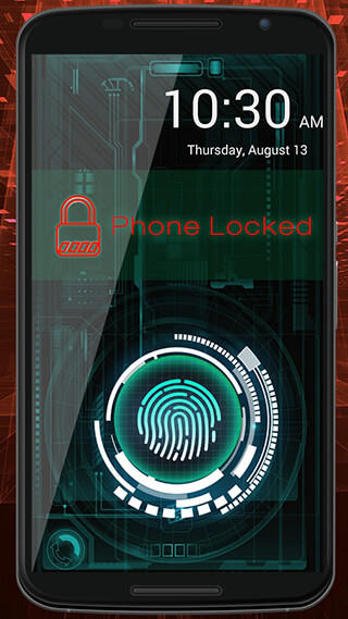 Fingerprint Lock Screen Prank скриншот 3
