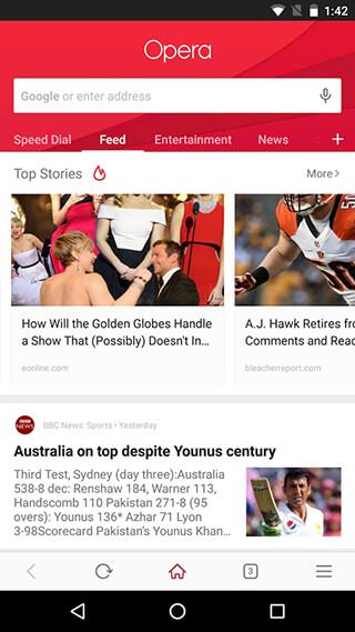 Opera Browser: Latest News скриншот 1