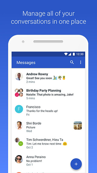 Android Messages скриншот 1