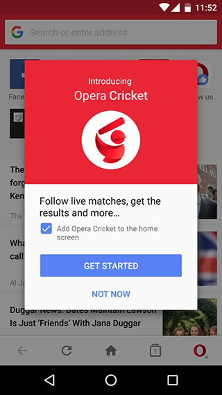 Opera Mini Browser Beta скриншот 4