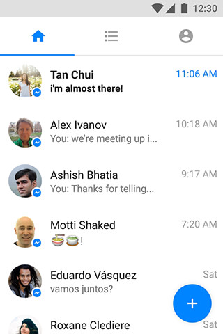 Messenger Lite: Free Calls and Messages скриншот 1