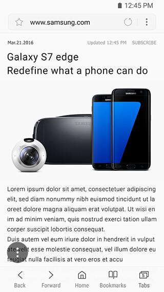 Samsung Internet Browser скриншот 1