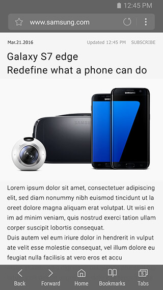 Samsung Internet Browser скриншот 2