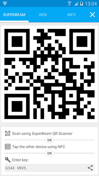 SuperBeam: WiFi Direct Share скриншот 4