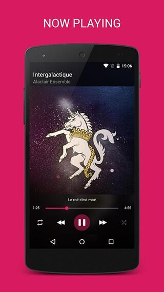 BlackPlayer Music Player скриншот 1