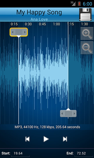 MP3 Cutter and Ringtone Maker скриншот 3