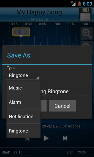 MP3 Cutter and Ringtone Maker скриншот 4