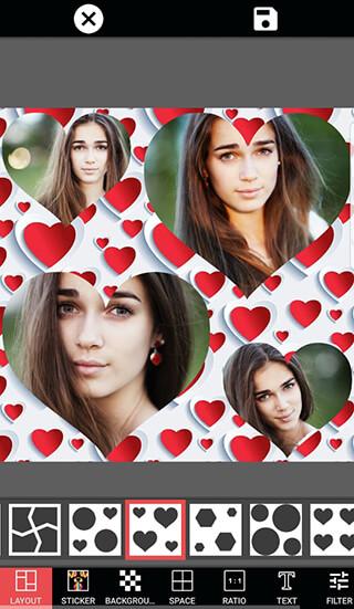 Photo Collage Editor Selfie Camera Filter Sticker скриншот 1