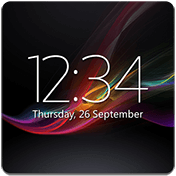Digital Clock Widget Xperia иконка