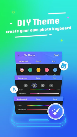 Typany Keyboard: DIY Themes, Emojis to Share скриншот 1