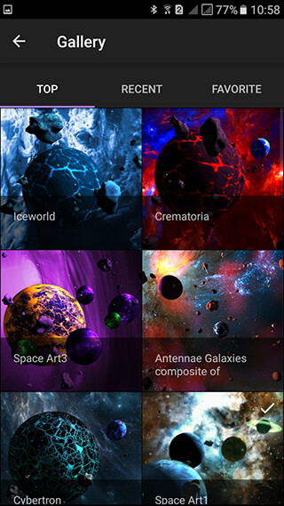 Asteroids 3D Live Wallpaper скриншот 1