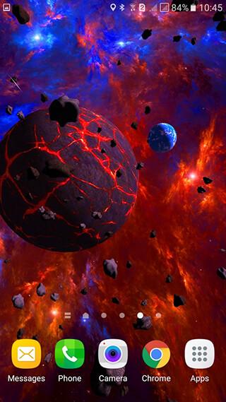 Asteroids 3D Live Wallpaper скриншот 3