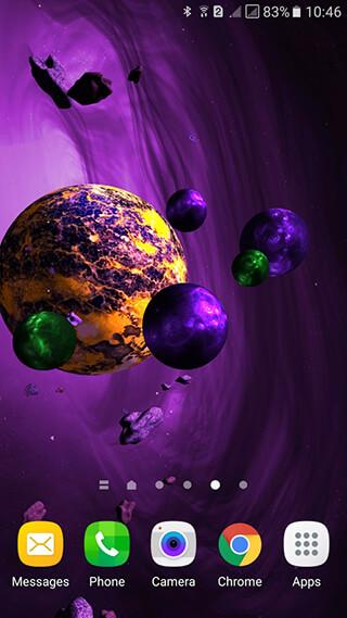 Asteroids 3D Live Wallpaper скриншот 4