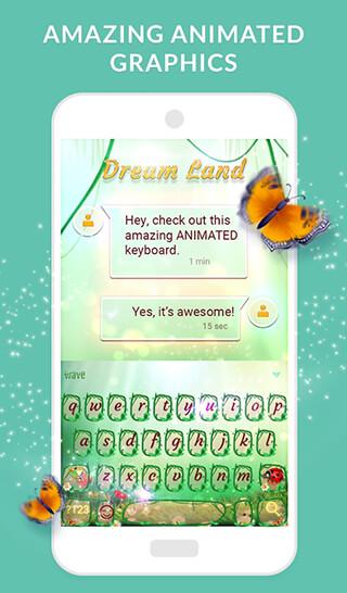 Wave Keyboard + Animated Themes, Emoji and GIFs скриншот 4