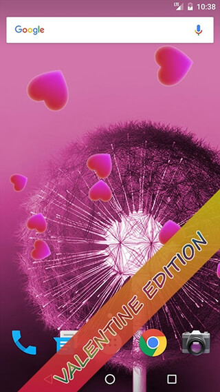Dandelion Live Wallpaper скриншот 3