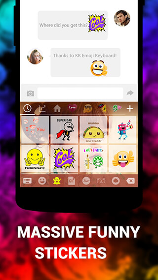 Клавиатура смайлов KK Emoticon (Keyboard: Emoji, Emoticons)
