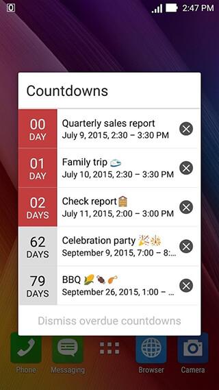 ASUS Calendar скриншот 4