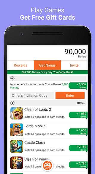 AppNana: Free Gift Cards скриншот 4