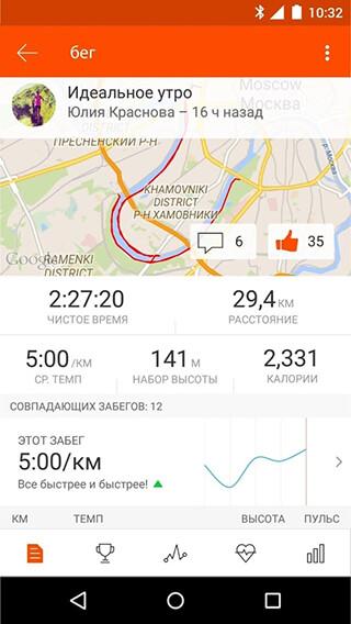 Strava: Бег и велоспорт GPS (Strava Running and Cycling GPS)