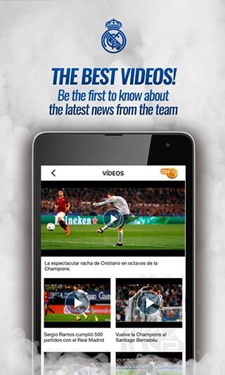 Real Madrid App скриншот 4