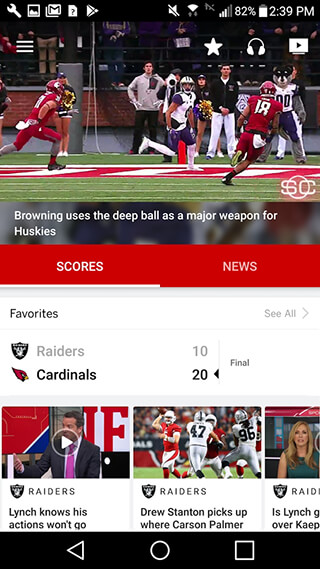 ESPN скриншот 1