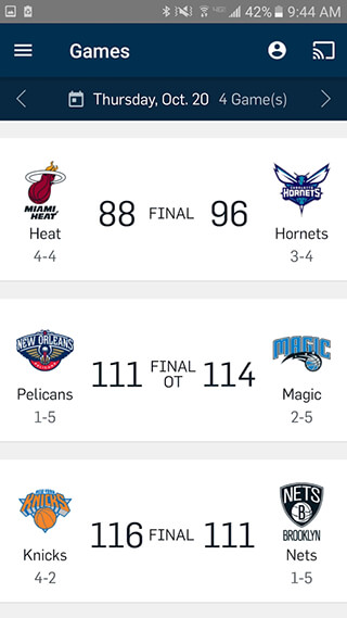 NBA App скриншот 2