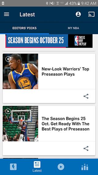 NBA App скриншот 3