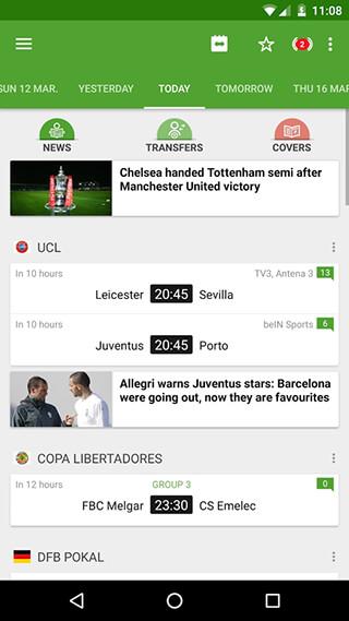 BeSoccer: Soccer Live Score скриншот 1