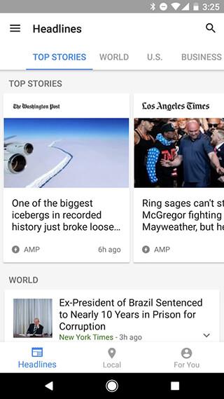 Google News and Weather скриншот 1