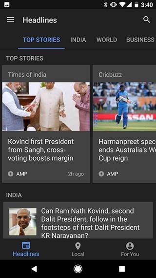Google News and Weather скриншот 2