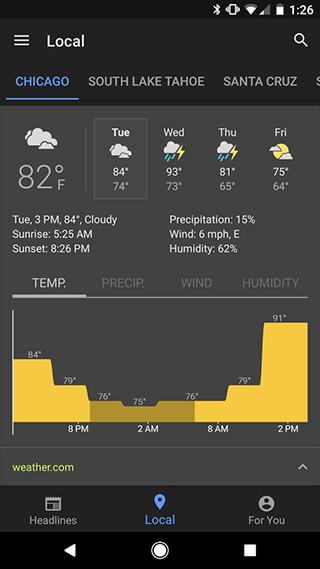 Google News and Weather скриншот 3