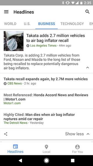 Google News and Weather скриншот 4