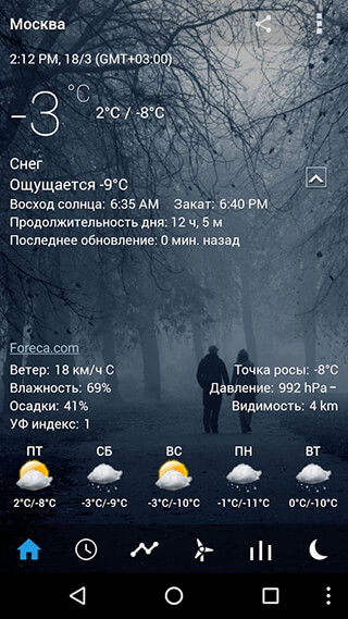 Transparent Clock and Weather скриншот 2