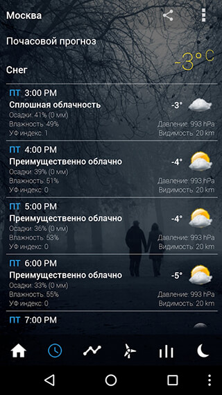 Transparent Clock and Weather скриншот 3