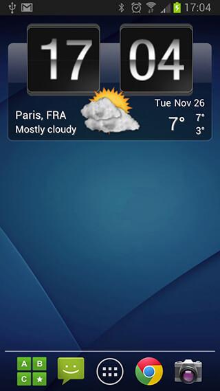 Sense Flip Clock and Weather скриншот 4