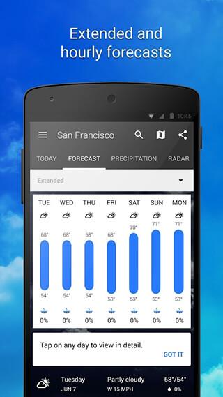 1Weather: Widget Forecast Radar скриншот 4