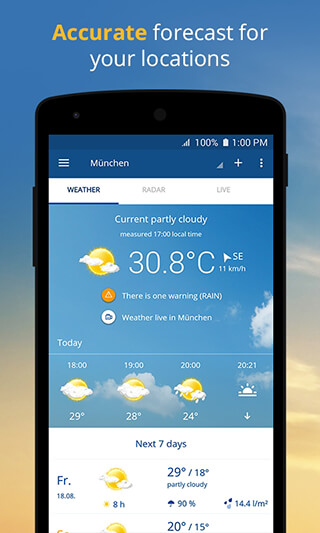 wetter.com: Weather and Radar скриншот 1
