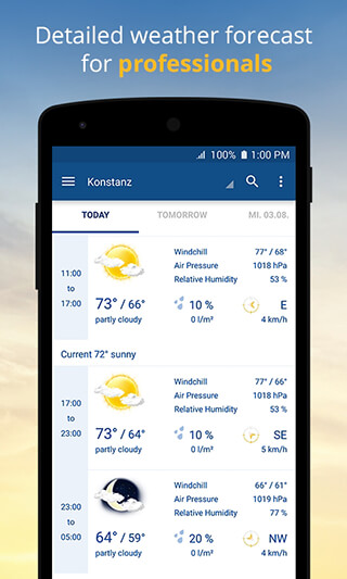 wetter.com: Weather and Radar скриншот 3