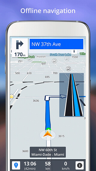 GPS Navigation: Drive with Voice, Maps and Traffic скриншот 1