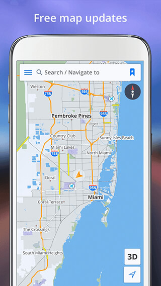 GPS Navigation: Drive with Voice, Maps and Traffic скриншот 2
