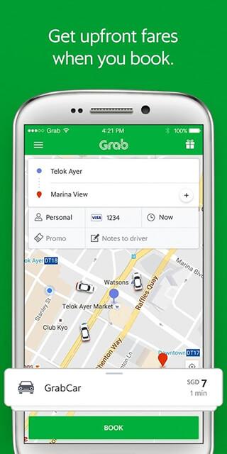 Grab: Cars, Bikes and Taxi Booking App скриншот 1