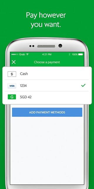 Grab: Cars, Bikes and Taxi Booking App скриншот 2