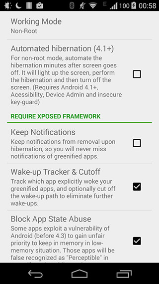 Greenify скриншот 4