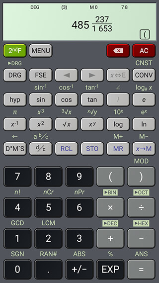 HiPER Scientific Calculator скриншот 4